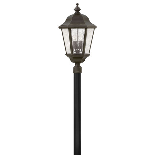 Edgewater Oil Rubbed Bronze 15-Inch Four-Light Outdoor Extra Large LED Post Mount