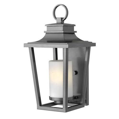 Hinkley Sullivan Hematite Medium Wall Outdoor Light Fixture