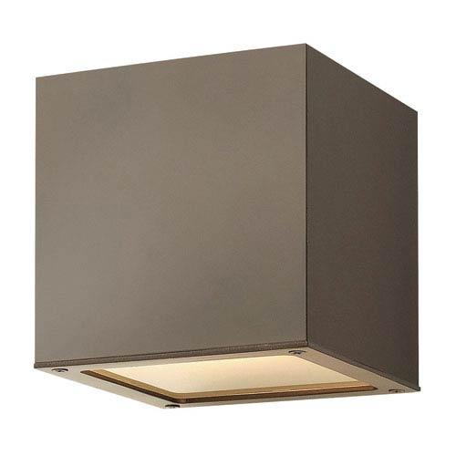 Hinkley Kube Bronze LED Seven-Inch Outdoor Downlight Wall Mount