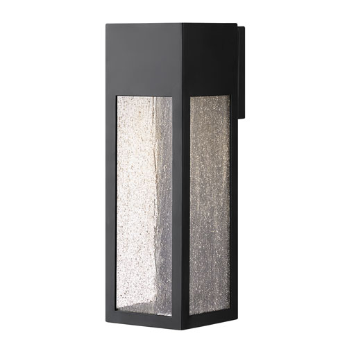 Hinkley Rook Satin Black One-Light Outdoor Large Wall Mount