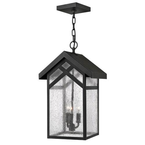 Hinkley Holbrook Black 19-Inch Three-Light Outdoor Hanging Pendant