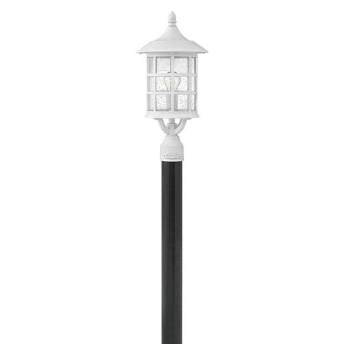 Hinkley Freeport Classic White One-Light Outdoor 9-Inch 10W Small Wall Mount