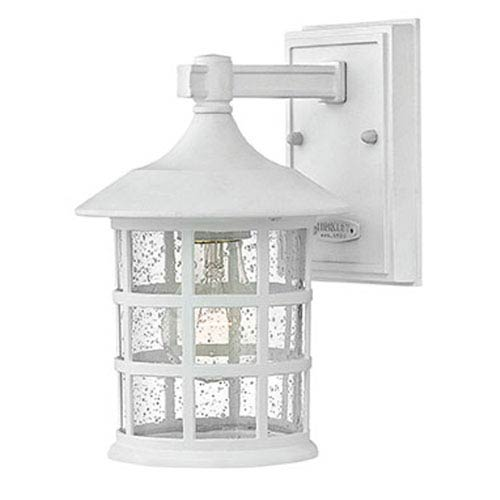 Freeport Classic White One-Light Outdoor 9-Inch 75W Small Wall Mount