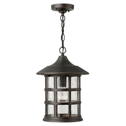 Freeport Oil Rubbed Bronze One-Light Outdoor Pendant