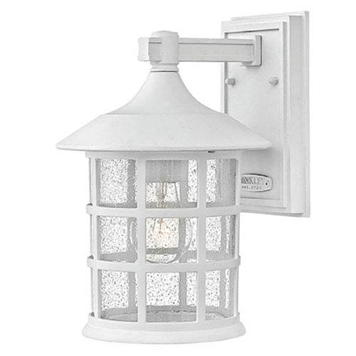 Freeport Clic White One Light Outdoor 12 Inch 100w Medium Wall Mount