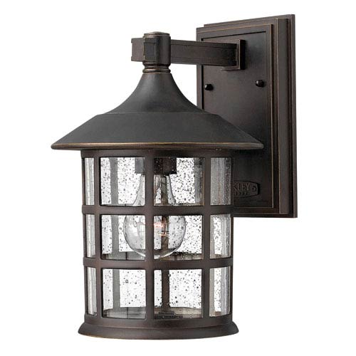 Freeport Oil Rubbed Bronze One-Light Medium Outdoor Wall Light