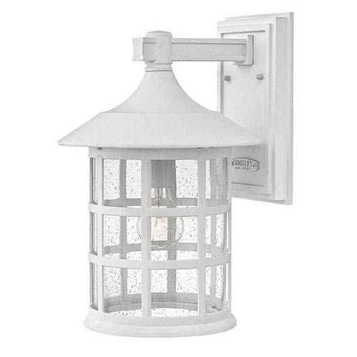 Hinkley Freeport Classic White One-Light Outdoor 15-Inch 100W Large Wall Mount
