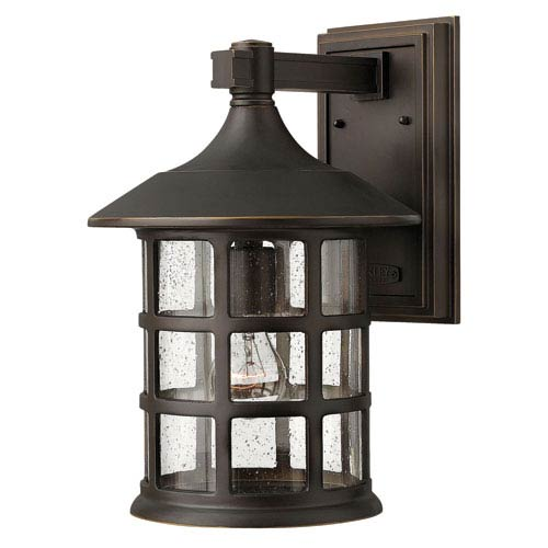 Hinkley Freeport Oil Rubbed Bronze One-Light Large LED Outdoor Wall Light
