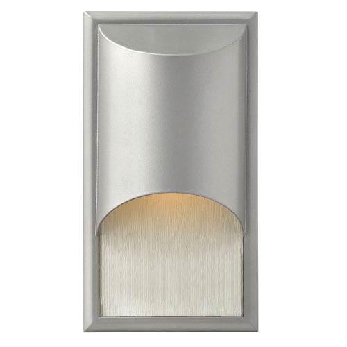 Hinkley Cascade Titanium One-Light Medium Outdoor Wall Light