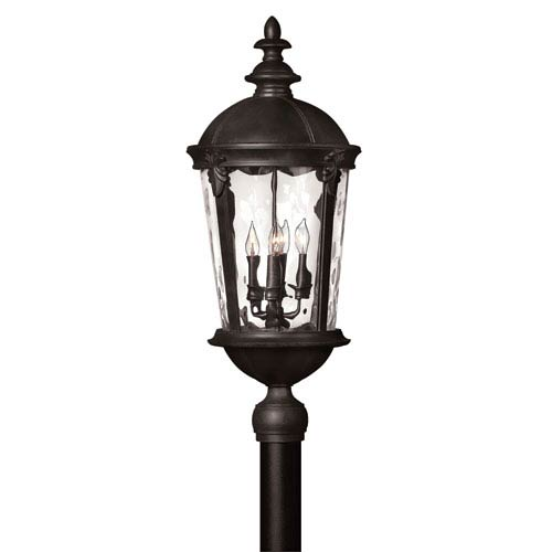 Hinkley Windsor Black Four Light Outdoor Post Mount