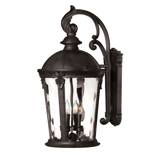 Hinkley Windsor Black 26-Inch Four-Light Outdoor Wall Light
