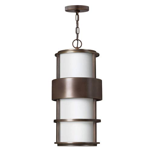 Saturn Metro Bronze One-Light LED Outdoor Pendant
