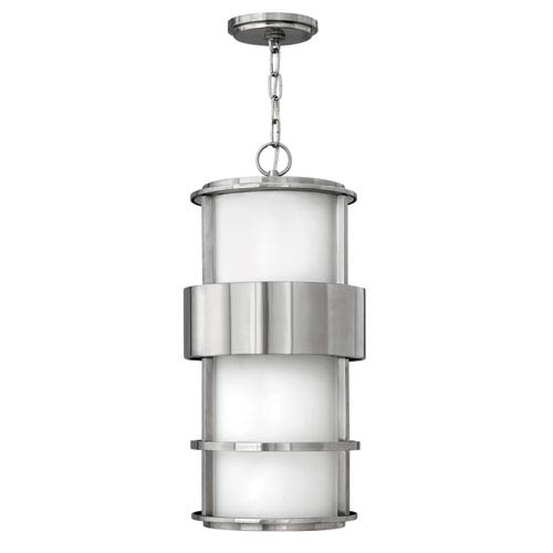 Hinkley Saturn Stainless Steel One-Light Fluorescent Outdoor Pendant