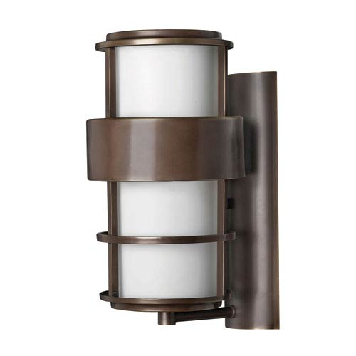 Saturn Metro Bronze 16-Inch One-Light LED Outdoor Wall Sconce