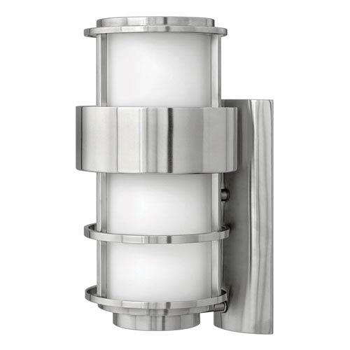 Hinkley Saturn Stainless Steel One-Light Medium Fluorescent Outdoor Wall Light