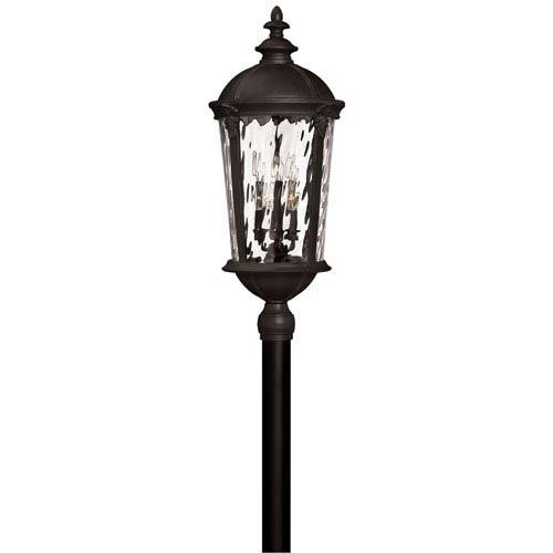 Windsor Black Two-Light LED Outdoor Post Mount