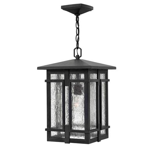 Tucker Museum Black One-Light Outdoor Pendant