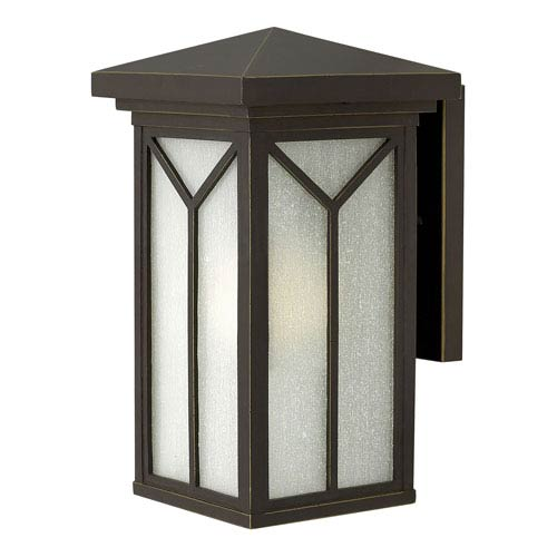 Hinkley Drake Oil Rubbed Bronze 7.5-Inch One-Light LED Outdoor Wall Mounted