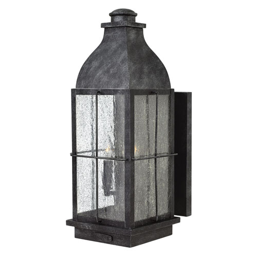 Bingham Greystone 8-Inch Three-Light Outdoor Large LED Wall Mount