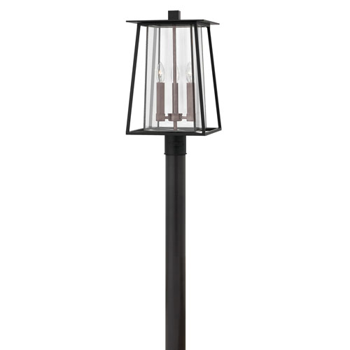 Walker Black 11-Inch Three-Light Outdoor LED Post Top and Pier Mount