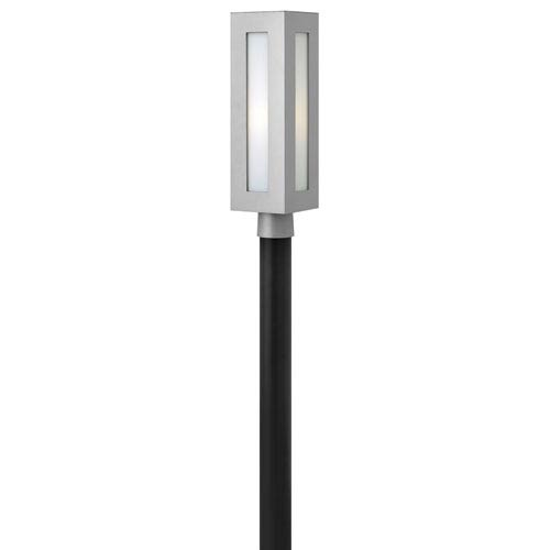 Led outdoor post lighting free shipping bellacor dorian titanium one light led outdoor post mount aloadofball Images