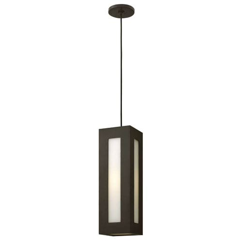 Hinkley Dorian Bronze 18-Inch One-Light Outdoor Hanging Lantern with Wire and Canopy