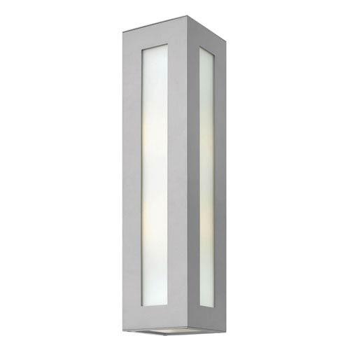 Dorian Titanium Two Light Outdoor Wall Light