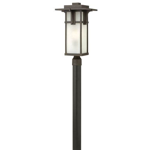 Hinkley Manhattan Oil Rubbed Bronze One-Light LED Outdoor Post Mounted