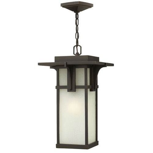 Manhattan Oil Rubbed Bronze 19-Inch One-Light Outdoor Hanging Pendant