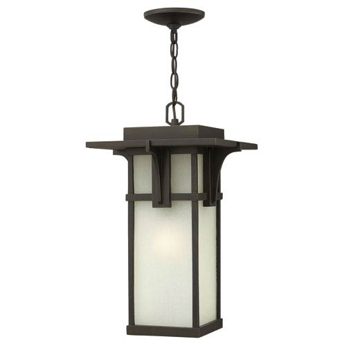 Hinkley Manhattan Oil Rubbed Bronze 19-Inch One-Light Fluorescent Outdoor Hanging Pendant
