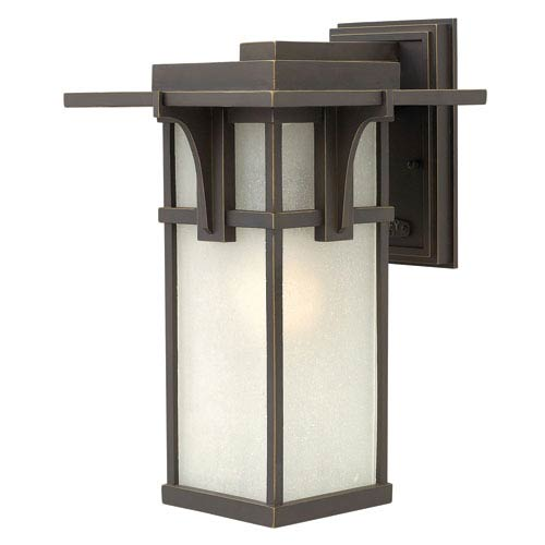 Hinkley Manhattan Oil Rubbed Bronze 15-Inch One-Light Outdoor Lantern