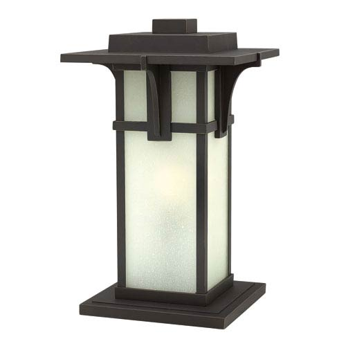 Hinkley Manhattan Oil Rubbed Bronze 18.5-Inch One-Light Outdoor Post Mounted