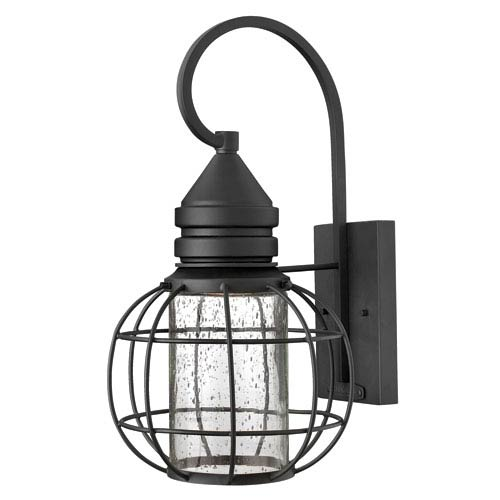 Hinkley New Castle Black 17-Inch One-Light Halogen Outdoor Lantern