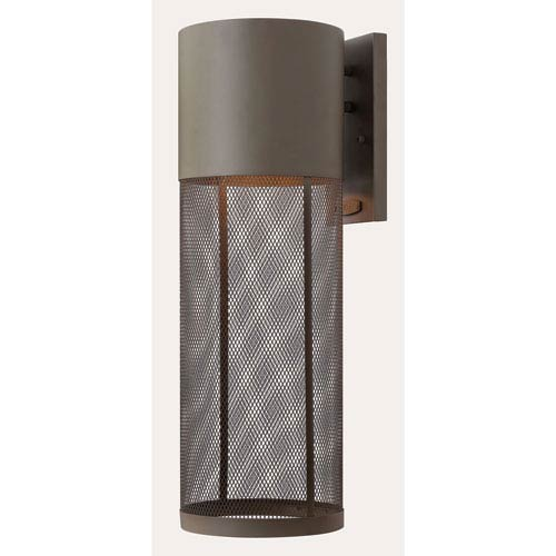 Hinkley Aria Buckeye Bronze 7-Inch One-Light Outdoor Wall Mounted