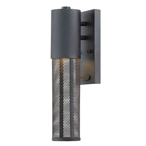 Hinkley Aria Black 15-Inch Outdoor Wall Mount