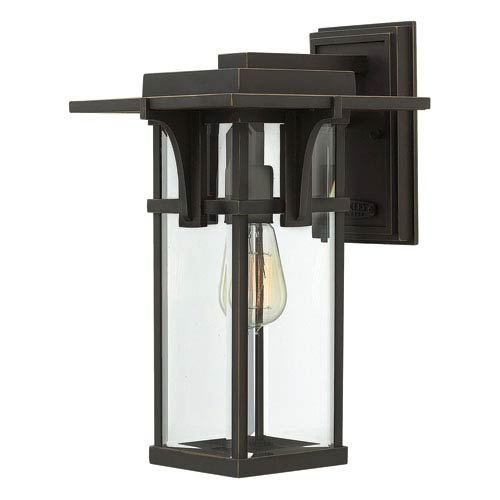 Hinkley Manhattan Oil Rubbed Bronze One-Light Outdoor Wall Mounted