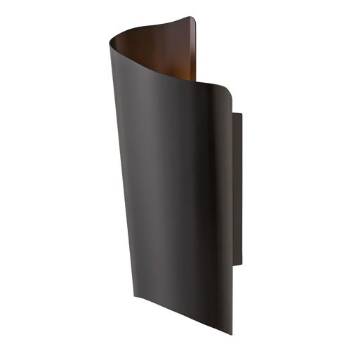 Surf Satin Black 10-Inch LED Outdoor Large Wall Mount