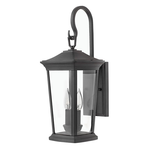 Hinkley Bromley Museum Black 20-Inch Two-Light Outdoor Small Wall Mount