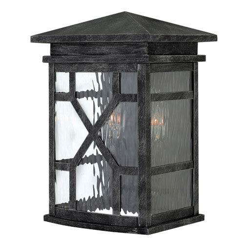 Clayton Greystone Two Light Outdoor Wall Mounted