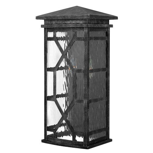 Clayton Greystone 9-Inch Two-Light Outdoor Wall Mounted