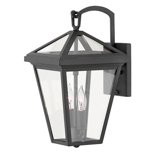 Hinkley Alford Place Museum Black Two-Light Outdoor Small Wall Mount