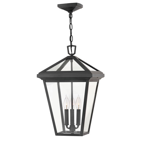 outdoor hanging lights black alford place museum black threelight outdoor hanging light lights lanterns bellacor