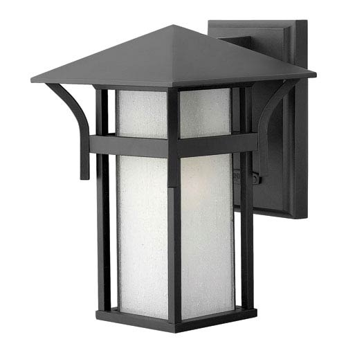 Hinkley Harbor Satin Black One-Light Outdoor Wall Light