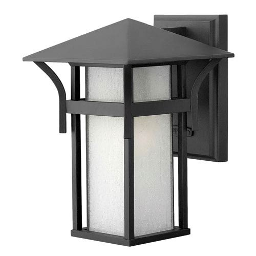 Hinkley Harbor Satin Black 10.5-Inch One-Light Outdoor Wall Light
