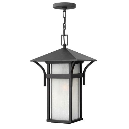 Hinkley Harbor Satin Black One-Light LED Outdoor Pendant