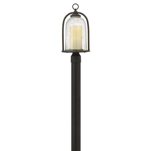 Quincy Oil Rubbed Bronze One-Light Outdoor Post Mounted