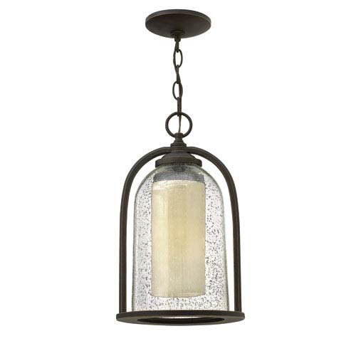 Hinkley Quincy Oil Rubbed Bronze One-Light LED Outdoor Pendant