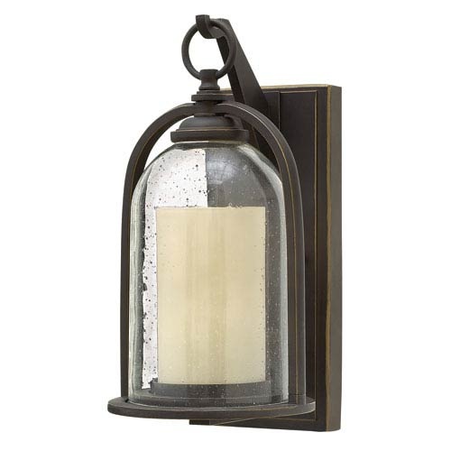 Quincy Oil Rubbed Bronze 13.5-Inch One-Light LED Outdoor Wall Sconce