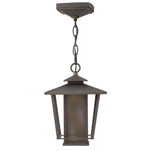 Theo Oil Rubbed Bronze 8-Inch LED Outdoor Hanging Pendant