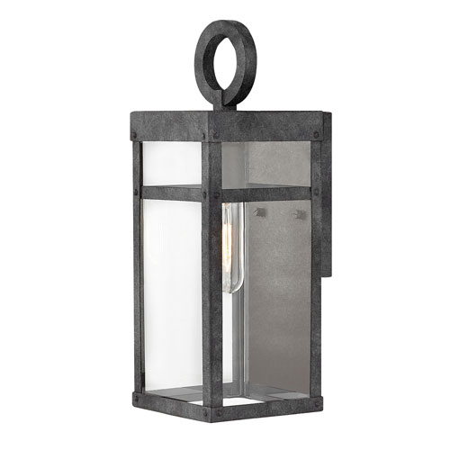 Porter Aged Zinc 6-Inch One-Light Outdoor Mini Wall Mount